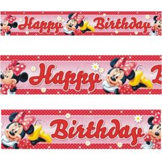 4.65m Disney Minnie Mouse Polka Dots Red & Pink Party Foil Banner