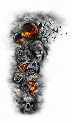 I think this is amazing,it shows darkness and fear, it shows courage and strength, hope and dispair,  i see the beauty in the darkness and will power that like pheinix will rise from the ashes.