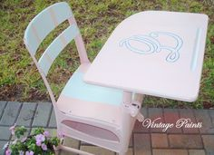 A sweet pink desk for Evyn <3  Painted furniture, from Vintage Paints in Orlando FL