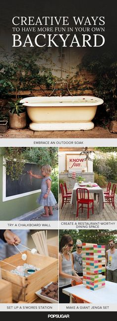 13 Creative Ways to Have More Fun in Your Own Backyard from @POPSUGARHome