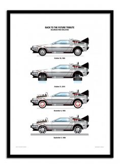 Art-Poster Wall Editions : Back to the Future - Delorean Tribute, by Olivier. Format : 50 x 70 cm. #retourverslefutur #backtothefuture #delorean #geek #movie #poster #print #art #walleditions