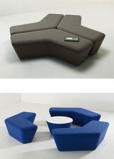 Q5 bench & table system-- Davis Furniture  Diseño modular de muebles para sentarse - #decoracion #homedecor #muebles
