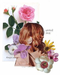 tove lo flower collage by kate rabbit