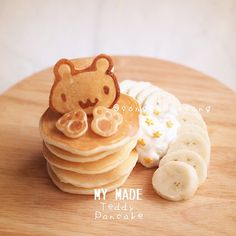 Bento Recipes, Baby Food Recipes, Sweet Recipes, Dessert Recipes, Cute Food, Yummy Food, How To Cook Pancakes, Cute Desserts, Asian Cooking