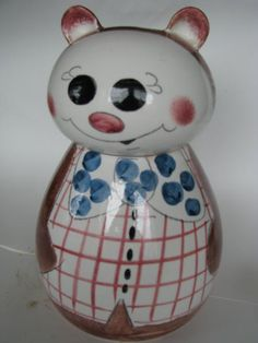Roly Poly Bear Cookie Jar