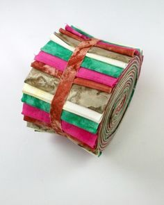 "Tie Dye Pop Jelly Roll Cotton Fabric Quilting 20 2.5"" Strips Patchwork Stash"