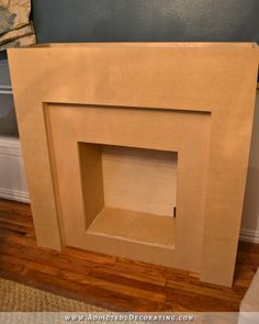 Creating A Faux Brick Fire Box With Drywall Joint Compound- I just love the faux brick technique ~KR~