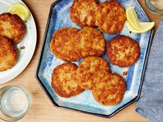Salmon Cakes recipe from Melissa d'Arabian via Food Network - Reviewers suggest cutting amount of mayo in half because patties are too moist