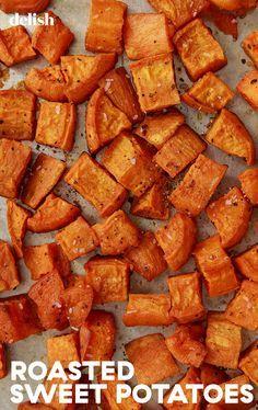 Sweet Potatoe Bites, Potato Bites, Side Recipes, Whole Food Recipes, Cooking Recipes, Vegan Recipes, Burger Side Dishes, Side Dishes Easy, Boiling Sweet Potatoes