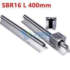 15.00$  Buy here - http://aliz2v.shopchina.info/go.php?t=32804860315 - Cheap 2pcs SBR16 L 400mm Linear Bearing Rails + 4pcs SBR16UU Linear Motion Bearing Blocks (can be cut any length) 15.00$ #shopstyle