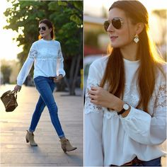 Get this look: http://lb.nu/look/7975594  More looks by Marianela Yanes: http://lb.nu/marilynscloset  Items in this look:  Sheinside Blouse, Suiteblanco Jeans, Stradivarius Boots, Michael Kors Bag   #casual #chic #romantic