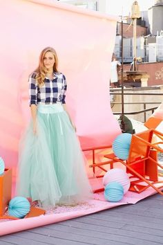 Share your Shabby!  Wooster Tulle Skirt Mint