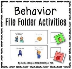 Instructions and printables to make 6 file folder activities to work on behavioral issues! It is essential to make behavioral strategies an embedded part of our students' routine. by theautismhelper.com