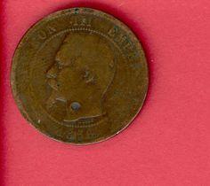 10 Centimes, France, 1856, back