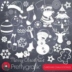 Christmas chalkboard clipart