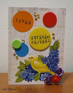 Käsitöitä flamencohame hulmuten * Siiri Viljanen - Ystävänpäivä Valentine's day card