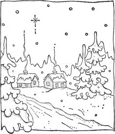 Christmas Scenery, Christmas Colors, Christmas Snowman, Simple Christmas, Coloring Sheets, Adult Coloring, Magnolia Pictures, Rug Patterns, Landscape Quilts