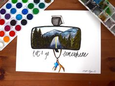 Let's go somewhere by BlueMoonCreationz on Etsy
