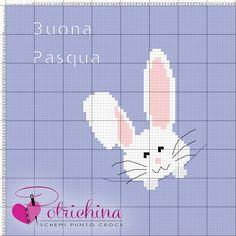 coniglietto bunny pasqua spring easter - schema punto croce - cross Stitch - Kreuzstich - Punto de Cruz