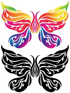 butterfly tattoo....So what if I do my birth stone color in the middle, and Dennis' on the outside and the wings are the kids....hmmm...and maybe even their initials in the design of the wings