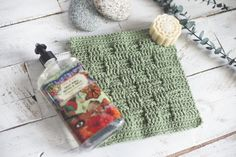 Three Rustic Washcloth Patterns — Megmade with Love