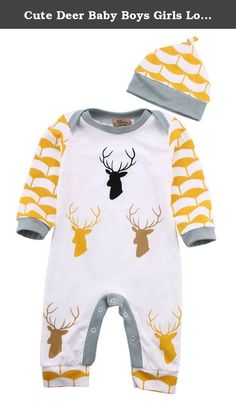 Cute Deer Baby Boys Girls Long Sleeve Bodysuit Romper Jumpsuit Hat Outfits Set. ANY CONFUSE / PROBLEM, PLEASE FEEL FREE TO CONTACT US, ALWAYS BEST SERVICE FOR YOU! Aliven is one of leading online supplier of all kinds of clothing, We keep abreast with the latest trends in fashion and provide hundreds of dedicated products for global shoppers. We are committed to providing the very best made clothing and accessories at the best prices. Quality is the first with best service. Material…