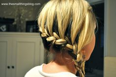The Small Things Blog: Wrap Around French Braid