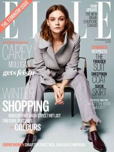 Carey Mulligan on the November 2015 cover of ELLE UK wearing Stella McCartney, Christian Louboutin and Alison Bryan. Photographed by Kerry Hallihan. Styled by Alison Edmond