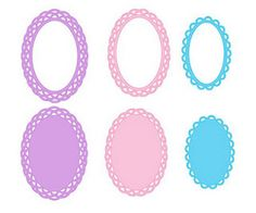 Scalloped Oval Freebies