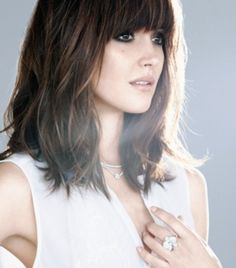 Longer layers with bangs