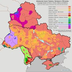 Languages spoken at home in Ukraine, Belarus and Moldova