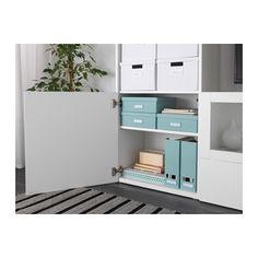 TJENA Pudełko z przegrodami - jasnoniebieski - IKEA
