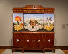 On Thursday November 2012 Furniture Master David Lamb And Painter James  Aponovich Unveiled White Mountain Breakfront At The Currier Museum Of Art.