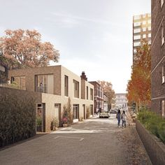 Tybalds Estate, Holborn, by Avanti, Duggan Morris and Mae architects Brick Architecture, Architecture Visualization, Concept Architecture, Residential Architecture, Architecture Details, Cgi, Duggan Morris, New Urbanism, Mews House
