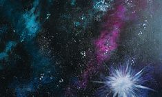 Galaxy Painting - Step By Step Acrylic Painting Tutorial - Shannon Hoffman - Galaxy Painting - Step By Step Acrylic Painting Tutorial How To Paint A Galaxy - Step By Step Painting For Beginners - Canvas Painting Tutorials, Acrylic Painting Lessons, Acrylic Painting Tutorials, Painting Canvas, Painting Techniques, Canvas Art, Night Sky Painting, Bubble Painting, Pour Painting