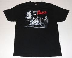 THE POLICE 2007 2008 Reunion Tour Black T Shirt L Large Sting Band Concert Dates #Anvil #GraphicTee