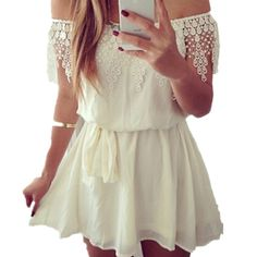 Sexy Summer Strapless Dress Women Off Shoulder Backless Party Lace Chiffon Mini Short Dress Vestido Femininas De Festa  Price: US $12.32  Sale Price: US $7.39  #dressional