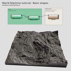 ArtStation - World Machine tutorial - Basic shapes, Iri Shinsoj
