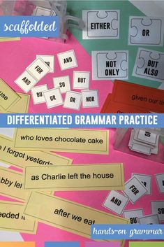 Language practice for students to play with! Students can practice punctuating different types of sentences with phrases, clauses, and conjunctions. Perfect station activity.