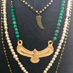 Boho gold Necklaces