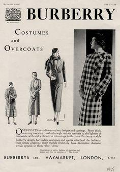 1935 | Campanha Burberry para o verão de 1935, na The Tatler. Cortesia da The Tatler.