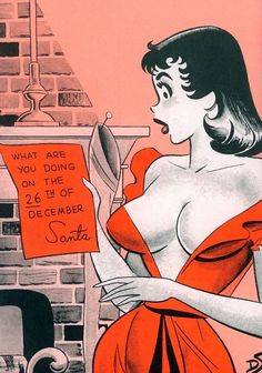 vintage humor christmas pin up Sexy Cartoons, Playboy Cartoons, Adult Cartoons, Adult Humor, Vintage Comics, Vintage Art, Vintage Soul, Vintage Humor, Retro Art
