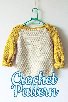 Baby sweater Crochet pattern, crochet baby shower gift, sweater for baby, baby clothes crochet pattern, baby crochet pattern Crochet Baby Sweater Pattern, Crochet Baby Sweaters, Crochet Baby Clothes, Sweater Knitting Patterns, Crochet Toddler, Crochet Bebe, Crochet For Boys, Knit Crochet, Modern Crochet Patterns