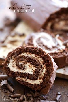 Chocolate Cream Roll @FoodBlogs