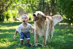 Learning the value of taking a well-earned break.   21 Photos Of Dogs And Kids Being Insanely Cute Together