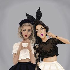 Goal:Draw Kiera and Hanna like this