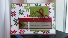 Christmas At Sandra's Experience - #GDP008 - Based on the CASE 'design' at www.global-project-design.com. I used the Merry Moments DSP paper in combination with Tip Top Taupe, Cherry Cobbler, Old Olive, Mossy Meadow and Whisper White. And not to forget the adorable reindeer paperclip! Stampin' Up! by Sandra Kleine ♡