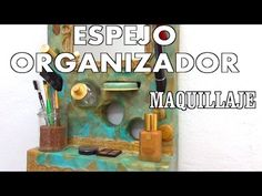 Mueble para maquillaje de porexpan y cartapesta - YouTube