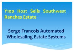 Serge Francois Pharamcist- Why you get paid for  wholesale properties. The essential abilities you'll need to have or get Today's Goals.