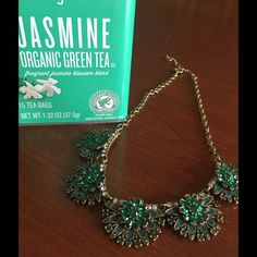 """Necklace emerald green in color Charm the room with emerald green wonder.  17"""" in length with an addition of a 3"""" extender Jewelry Necklaces"""